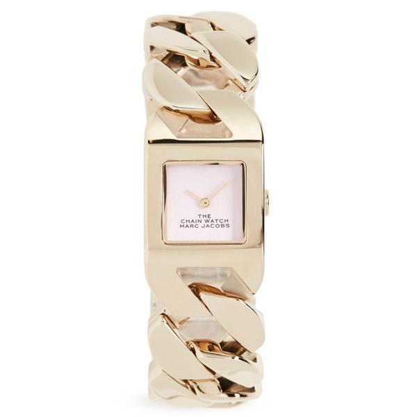 マークジェイコブス 腕時計 M8000735 MARC JACOBS The Chain Watch (GOLD/PINK) ザ チェーン ウォッチ (ゴールド/ピンク) 新作 正規品 アメリカ買付 レディース ウォッチ 時計 アクセサリー