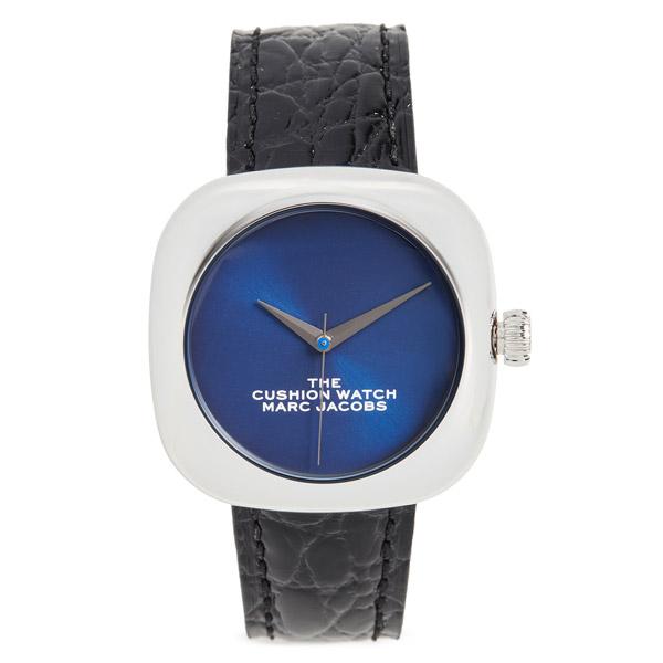 マークジェイコブス 腕時計 M8000733 MARC JACOBS The Cushion Watch 36mm (BLACK/BLUE) ザ クッション ウォッチ 36mm (ブラック/ブルー) 新作 正規品 アメリカ買付 レディース ウォッチ 時計 アクセサリー