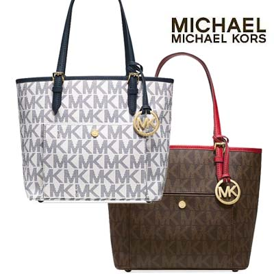 4857e941ba26 Michael Michael Kors MICHAEL Michael Kors Jet Set Medium Snap Pocket Tote  (2 colors ) ...