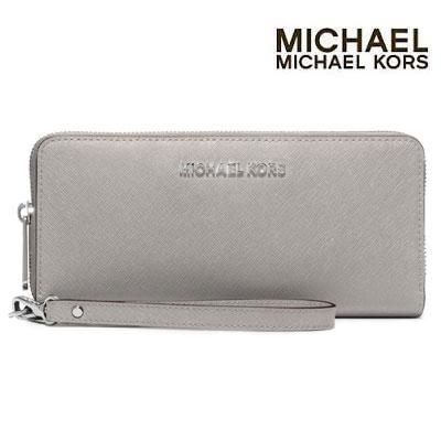 935436af79a1 Michael Kors long wallet Jet Set Travel Continental Wallet (PEARL GREY) Jet- set ...