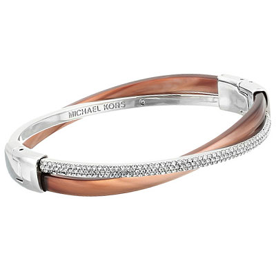 6a1a02c9bde0 Michael Kors bracelet Michael Kors Pave Crystal Colorblocked Crisscross  Bracelet (Brown Silver) pave crystal color block cross Bracelet  (Brown silver) new ...