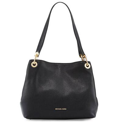 マイケルマイケルコース ショルダーバッグ Michael Michael Kors 30H6GRXE3LRaven Large Leather Shoulder Bag (Black) ラージ レザー ショルダーバッグ (ブラック) 新作 正規品 レディース バッグ ハンドバッグ