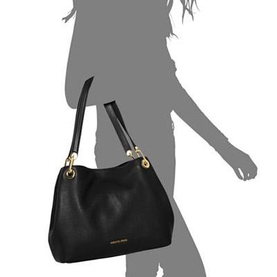 Large Leather Raven Shoulder Bag | Shoulder bag, Michael