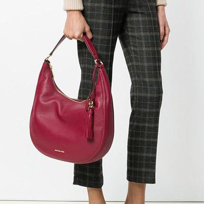 0c8662234018 ... Michael Kors shoulder bag 30F7GL0L3L Michael Kors Lydia Leather  Shoulder Bag (Mulberry) LYDIA large ...