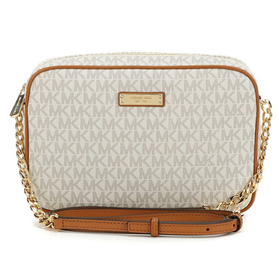 20b830fe4a76 Michael Michael course shoulder bag Michael Michael Kors Signature Jet Set  Item Large East West Crossbody (Vanilla) jet set large crossbody bag ( vanilla) ...