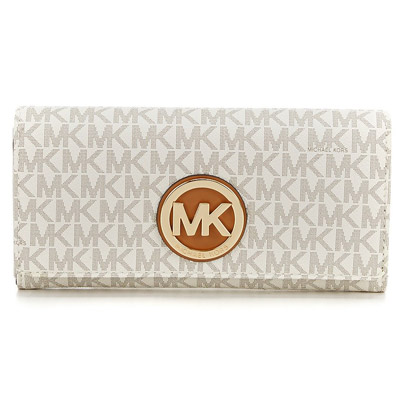 1aec8be5481a Michael Michael course long wallet Michael Michael Kors Signature Fulton  Carryall Wallet (Vanilla) シグニチャーロゴキャリーオール wallet (vanilla) new work ...