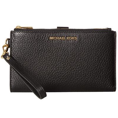 マイケルマイケルコース スマートフォンウォレット Michael Michael Kors 32T7GAFW4LAdele Leather Smartphone Wristlet (BLACK) レザー スマホ リストレット 財布 (ブラック) 新作 正規品 レディース iPhoneケース