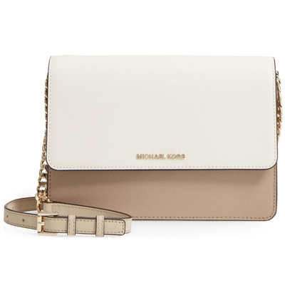 71aaf3cce90b Michael Kors shoulder bag Michael Michael Kors Large Daniela Colorblock  Leather Crossbody Bag (Truffle Oat Gold) large color block crossbody bag (a  truffle ...