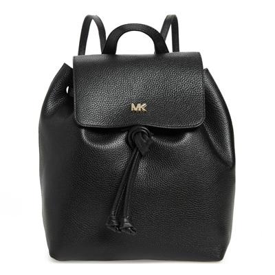 マイケルコース バックパック 30T8TX5B2L Michael Michael Kors Junie Medium Pebbled Leather Backpack (Black) JUNIE フラップ バックパック (ブラック) 新作 正規品 レディース バッグ リュック リュックサック レザー
