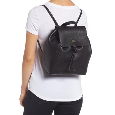 0d1d0d6eb031 ... Michael Kors backpack 30T8TX5B2L Michael Michael Kors Junie Medium  Pebbled Leather Backpack (Black) JUNIE ...