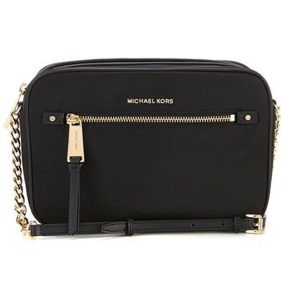 0e5fd0e1b838 Michael Kors shoulder bag Michael Michael Kors 32T8GP5C3C Polly Large Nylon  Crossbody (Black/Gold ...