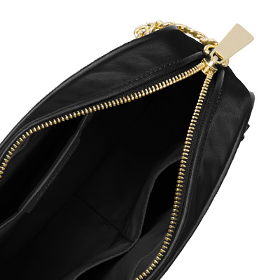 6cbe8e89103b ... Michael Kors shoulder bag Michael Michael Kors 32T8GP5C3C Polly Large  Nylon Crossbody (Black/Gold ...