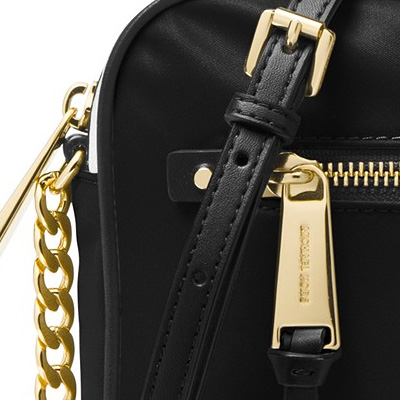 67d8ddf7eb5 Michael Kors shoulder bag Michael Michael Kors 32T8GP5C3C Polly Large Nylon  Crossbody (Black Gold) large nylon crossbody bag (black) Nylon East West ...