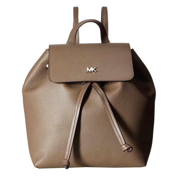 マイケルコース バックパック 30T8TX5B2L Michael Michael Kors Junie Medium Pebbled Leather Backpack (Mushroom) JUNIE フラップ バックパック (マッシュルーム) 新作 正規品 レディース バッグ リュック リュックサック レザー