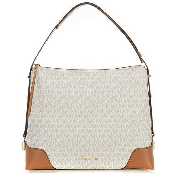 1da8e1f7bdb2 Michael Kors shoulder bag Michael Michael Kors 30H8GCBL3B Crosby Large Logo Shoulder  Bag (Vanilla/ ...