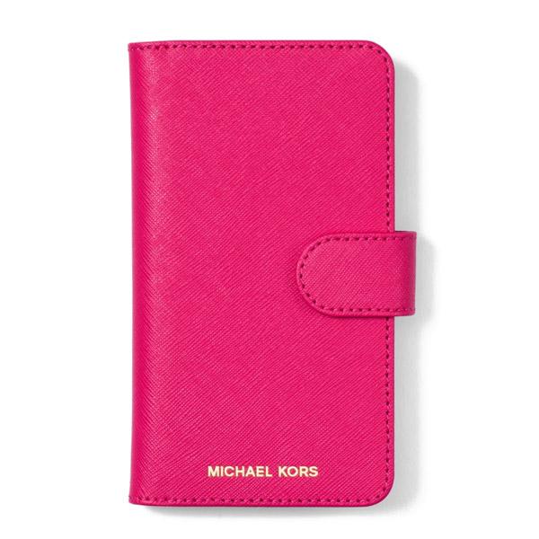 the latest e7bb8 9db3a Michael Kors iPhone case Michael Michael Kors 32H7GE7L5L Saffiano Leather  Folio Case For iPhone X (Bright Pink) サフィアノレザー iPhoneX case ...