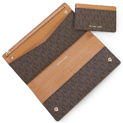 148148fc1ad4 Michael Kors long wallet Michael Michael Kors 32S8GF6D7B Jet Set Logo Slim  Wallet (Brown Acorn) jet set logos rim wallet wallet (brown) Signature  Large Card ...
