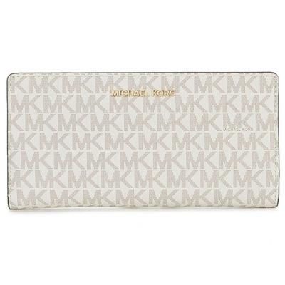 6e20424c32d3 Michael Kors long wallet Michael Michael Kors 32S8GF6D7B Jet Set Logo Slim  Wallet (Vanilla/ ...