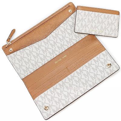 ddbd9ac92c8e Michael Kors long wallet Michael Michael Kors 32S8GF6D7B Jet Set Logo Slim  Wallet (Vanilla Acorn) jet set logos rim wallet wallet (vanilla) Signature  Large ...