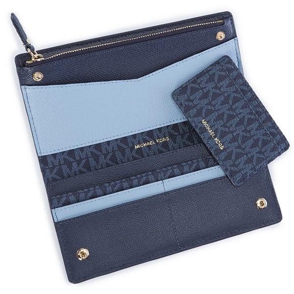 3685ab67a380 Michael Kors long wallet Michael Michael Kors 32S8GF6D7B Jet Set Logo Slim  Wallet (ADMRL PLBLUE) jet set logos rim wallet wallet (マドミラル   Peer blue)  ...