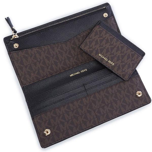 brand new 725c7 557ec Michael Kors long wallet Michael Michael Kors 32S8GF6D7B Jet Set Logo Slim  Wallet (BROWN/BLK) jet set logos rim wallet wallet (brown / black) ...