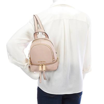 207e2373e2 Michael Kors backpack Michael Kors Rhea Zip Mini Messenger Backpack (Soft  Pink) mini-messenger backpack   rucksack (soft pink) new work regular  article ...