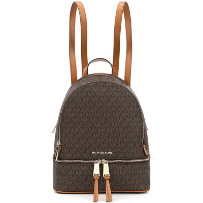 マイケルコース バックパック Michael Kors 30S7GEZB1BRhea Medium Backpack (BROWN) ミディアム バックパック/リュック (ブラウン) 新作 正規品 レディース バッグ リュックサック 通勤 通学