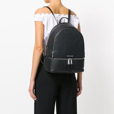 91f5eba4273a ... release date the michael kors backpack michael kors 30s5sezb3l rhea  large leather backpack black rear large