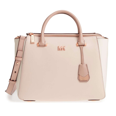 d98560272f0e Michael Kors 2WAY bag Michael Kors Nolita Medium Satchel (Soft Pink/light  Cream/ ...