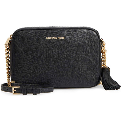 a2f64813232dc5 Michael Kors shoulder bag 32F7GGNM8L Michael Kors Ginny Leather Crossbody  (Black) GINNY medium camera ...