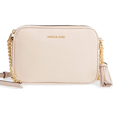 e36c2098cbda Michael Kors shoulder bag 32F7GGNM8L Michael Kors Ginny Leather Crossbody (Soft  Pink) GINNY medium ...