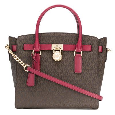 253b133c60911c Michael Michael course 2WAY handbag 30T7GHMS7B Michael Michael Kors  Hamilton Large Logo Satchel (Brown/ ...