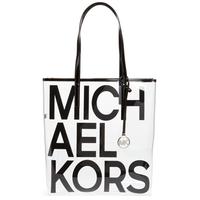 Michael Kors Tote Bag The Large North South Black Logo Clear New Work Regular Article