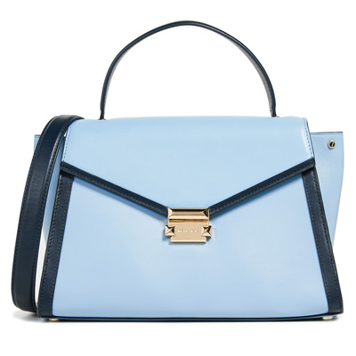 d437258be905 Michael Kors 2WAY bag 30T8SXIS3T Michael Michael Kors Whitney Large Leather  Satchel (Blue)WHITNEY ...