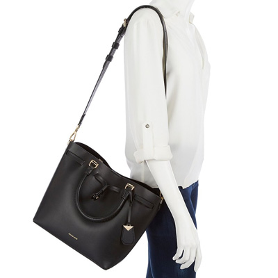 c55fdfc2e267 ... Michael Kors 2WAY bag 30S8GZLM2L Michael Michael Kors Blakely Leather  Bucket Bag (Black) BLAKELY ...