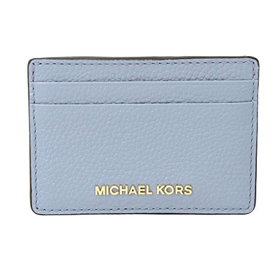 78ca3ac1c25c Michael Kors card case Michael Michael Kors Card Holder (Pale Blue) slim  leather card ...