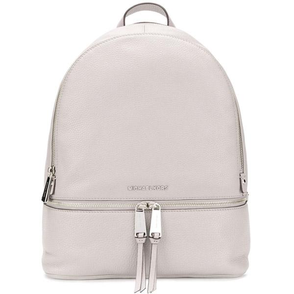 マイケルコース バックパック Michael Kors 30S5SEZB3LRhea Large Leather Backpack (PEARL GREY) リア ラージ レザー バックパック/リュック (パールグレー) 新作 正規品 レディース バッグ リュックサック デイバッグ 通勤 通学 大きめ