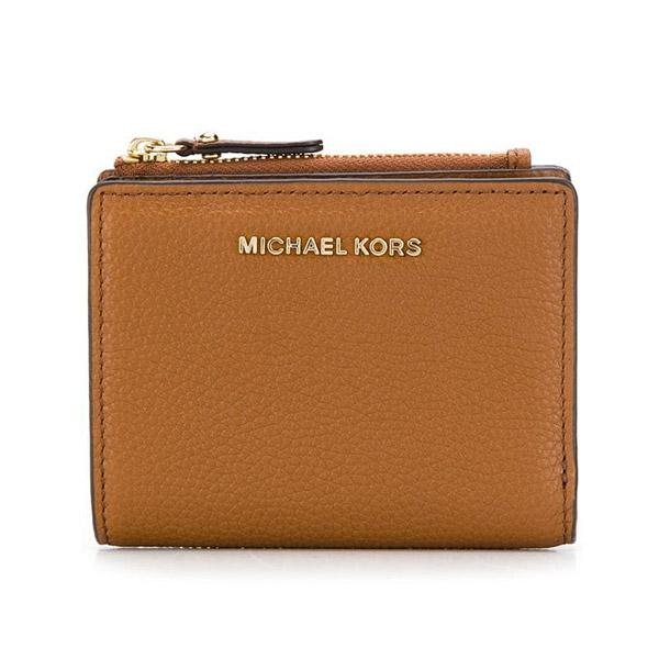 マイケルコース 二つ折り財布 Michael Michael Kors Jet Set Snap Billfold Wallet (Luggage) ジェットセット スナップ ビルホールド 財布 (ラゲージ) 新作 正規品 アメリカ買付 レディース 財布 コンパクト ミニ ウォレット