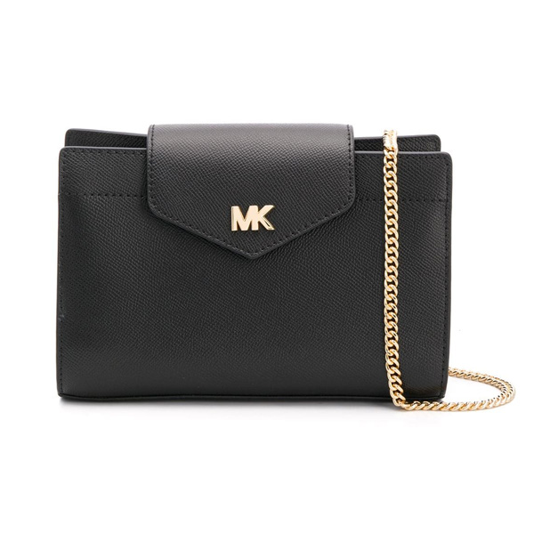 0ddff0242098 Michael Kors shoulder bag Michael Michael Kors Crossgrain Leather Crossbody  Clutch (Black) synthetic leather ...