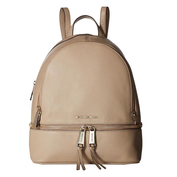 マイケルコース バックパック Michael Kors 30S5GEZB1LRhea Medium Leather Backpack (Truffle) リア ミディアム レザー バックパック/リュック (トリュフ) Rhea Zip Small Pebble Leather Backpack 新作 正規品 レディース バッグ リュックサック デイバッグ 通勤 通学