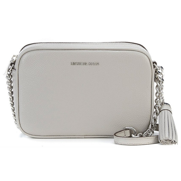 bf9d54cdaca Michael Kors shoulder bag 32F7SGNM8L Michael Kors Ginny Medium Pebbled  Leather Crossbody (Pearl Grey/ ...