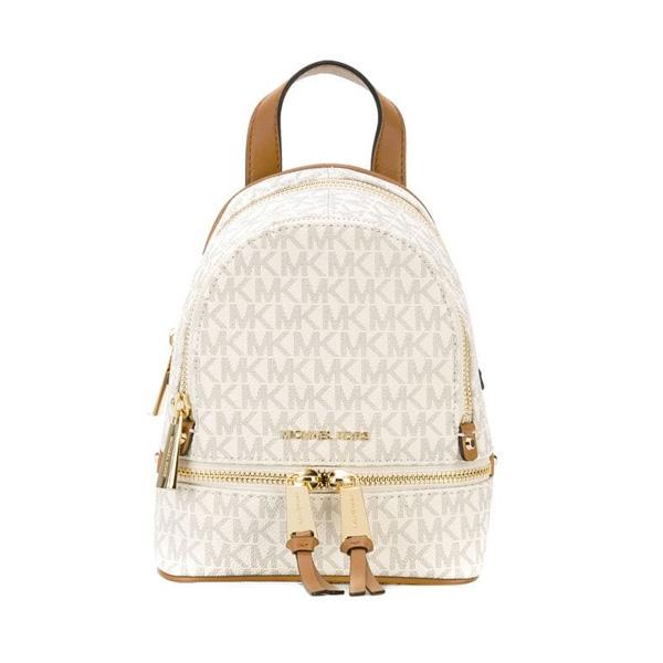 9cdff35896f4c6 Michael Kors backpack Michael Michael Kors 30S7GEZB1V Rhea Mini Logo  Backpack (Vanilla) rear mini ...