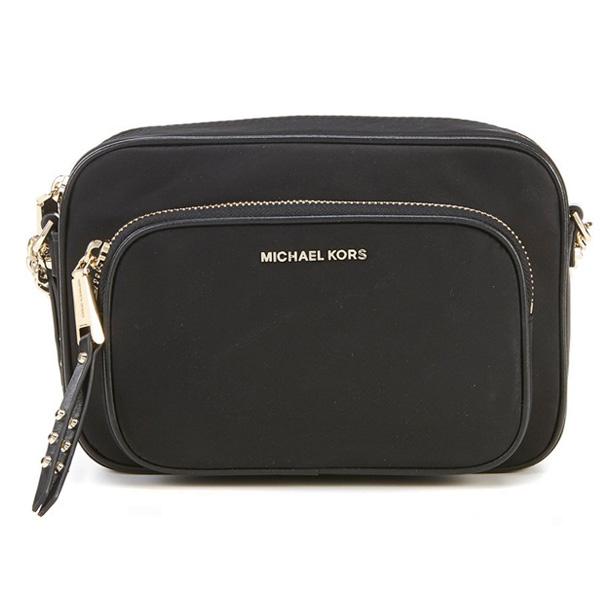 マイケルコース ショルダーバッグ Michael Michael Kors Leila Nylon Camera Bag (Black) ナイロン カメラバッグ (ブラック) 新作 正規品 レディース バッグ クロスボディバッグ ポシェット ミニバッグ 斜めがけ