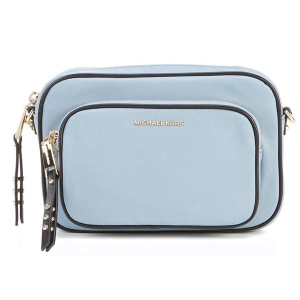 マイケルコース ショルダーバッグ Michael Michael Kors Leila Nylon Camera Bag (Pale Blue) ナイロン カメラバッグ (ペールブルー) 新作 正規品 レディース バッグ クロスボディバッグ ポシェット ミニバッグ 斜めがけ