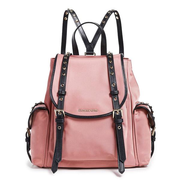 19d6c48c94cb36 Michael Kors backpack Michael Michael Kors Leila Nylon Medium Flap Backpack  (Rose) nylon medium ...