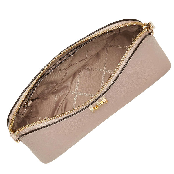 2faa6f9bb7d2 The crossbody bag which has a cute dome shape. The simple design which made  MK LOGO on the front desk is attractive.