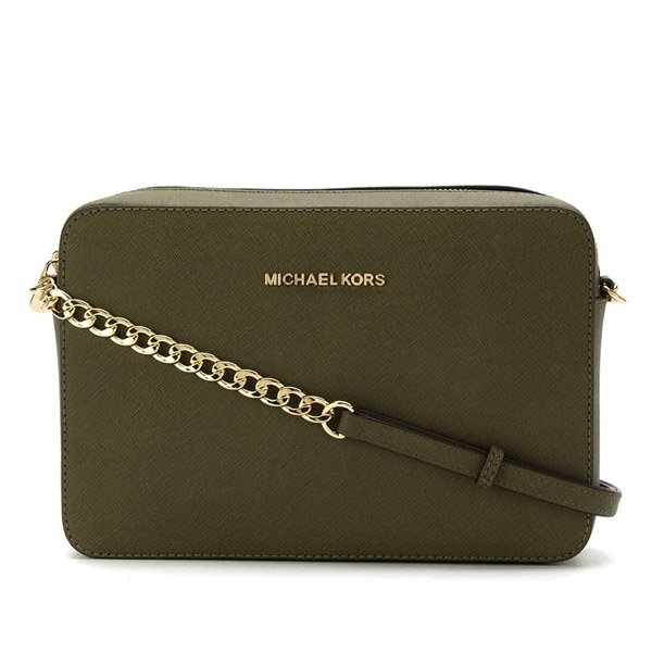 b0f1a8733df8f6 Michael Kors shoulder bag Michael Michael Kors 32S4GTVC3L Jet Set Large  Saffiano Leather Crossbody (Olive ...