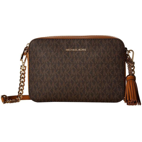 956c6940c78f8c Michael Kors shoulder bag 32F8GF5M2B Michael Michael Kors Ginny Medium Logo  Crossbody Bag (Brown) ...
