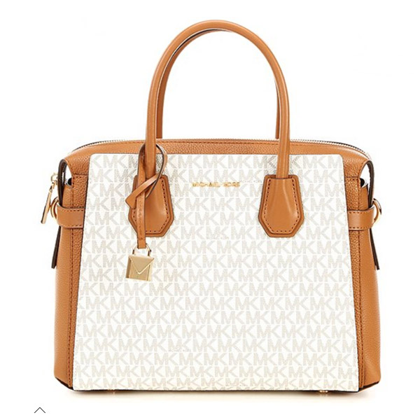 aa092b745d70 Michael Kors 2WAY bag 30S9GM9S2B Michael Michael Kors Mercer Medium Logo  Belted Satchel (Vanilla/ ...