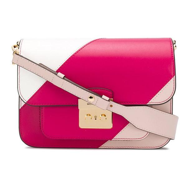 3204e07226aa Michael Kors shoulder bag Michael Michael Kors Sloan Editor Tricolor  Shoulder Bag (Soft Pink Multi ...